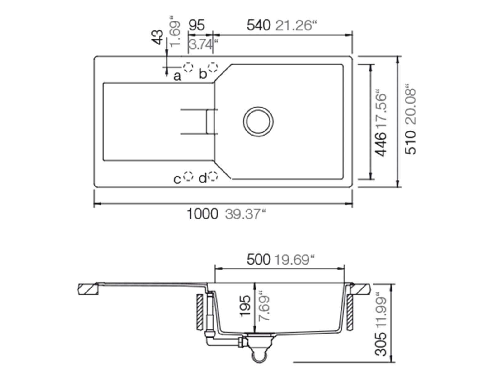 Schock Manhattan D-100L A Asphalt - MAND100LAGAS Granitspüle