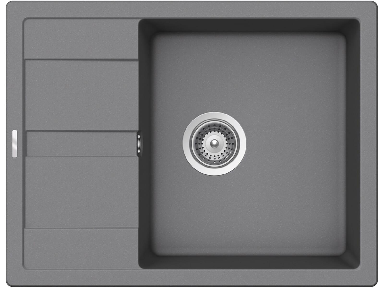 Draufsicht von Schock Manhattan D-100 A Croma Granit-Spüle