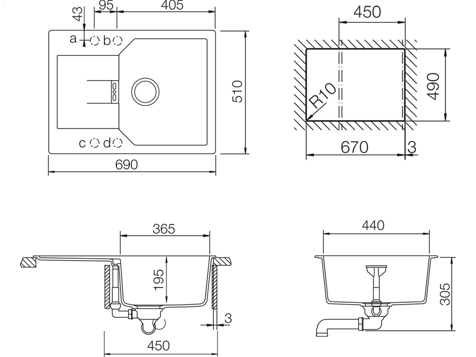 Schock Manhattan D-100 S A Nero Granitspüle