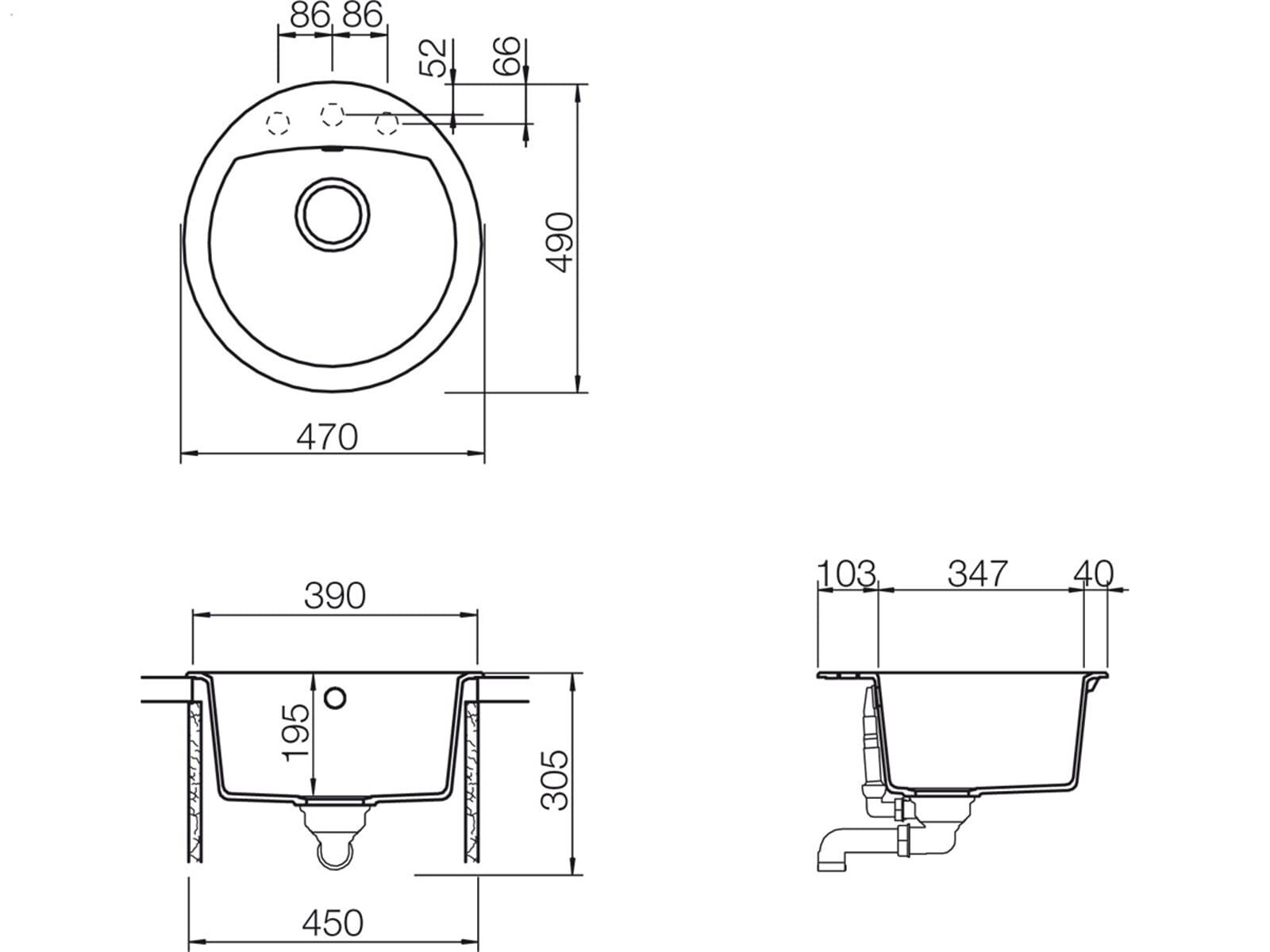 Schock Manhattan R-100 A Asphalt - MANR100AGAS Granitspüle