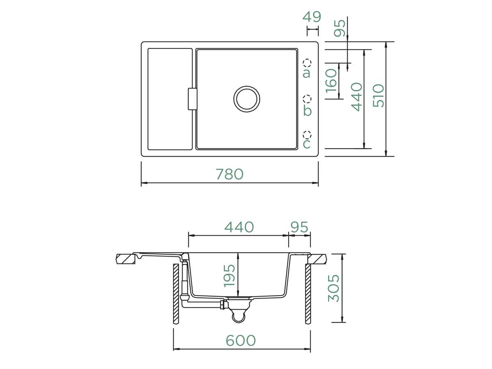 Schock Mono D-100XS A Magnolia - MOND100XSAMGL Granitspüle
