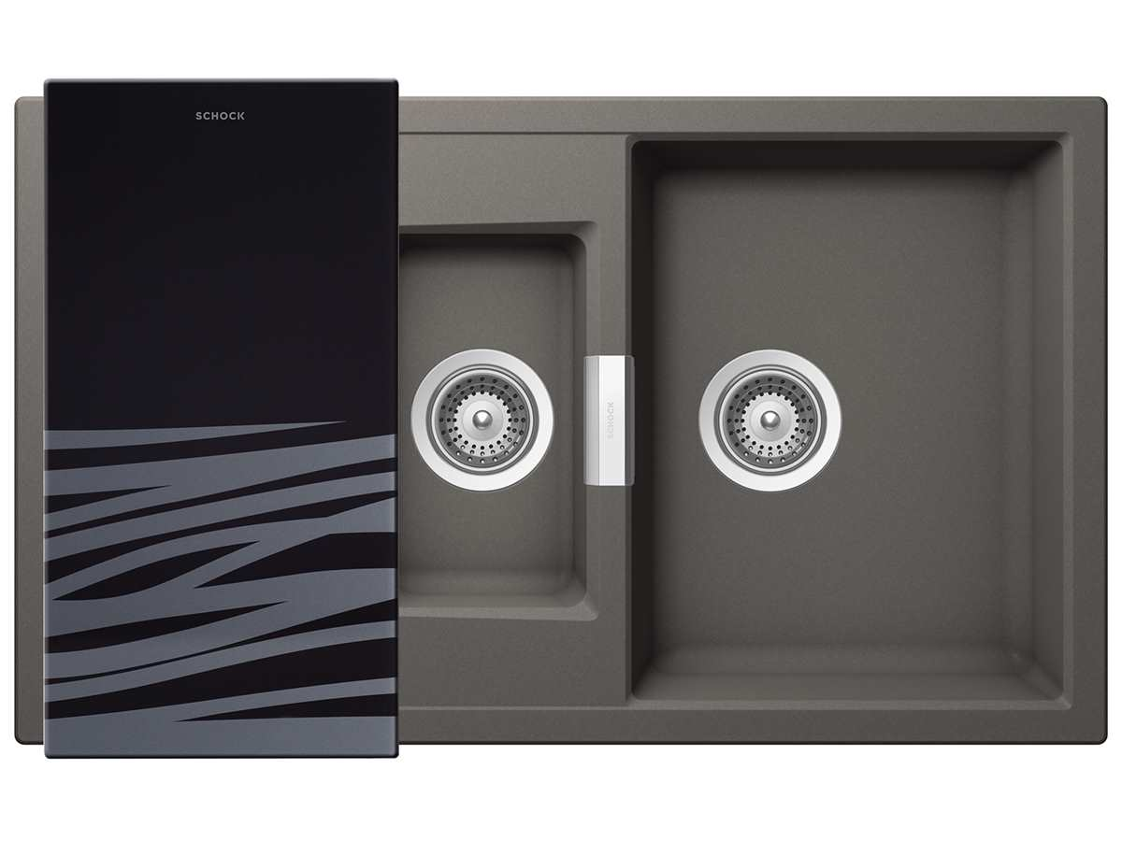 Schock Mono D-150 A Silverstone - MOND150ASIL Granitspüle