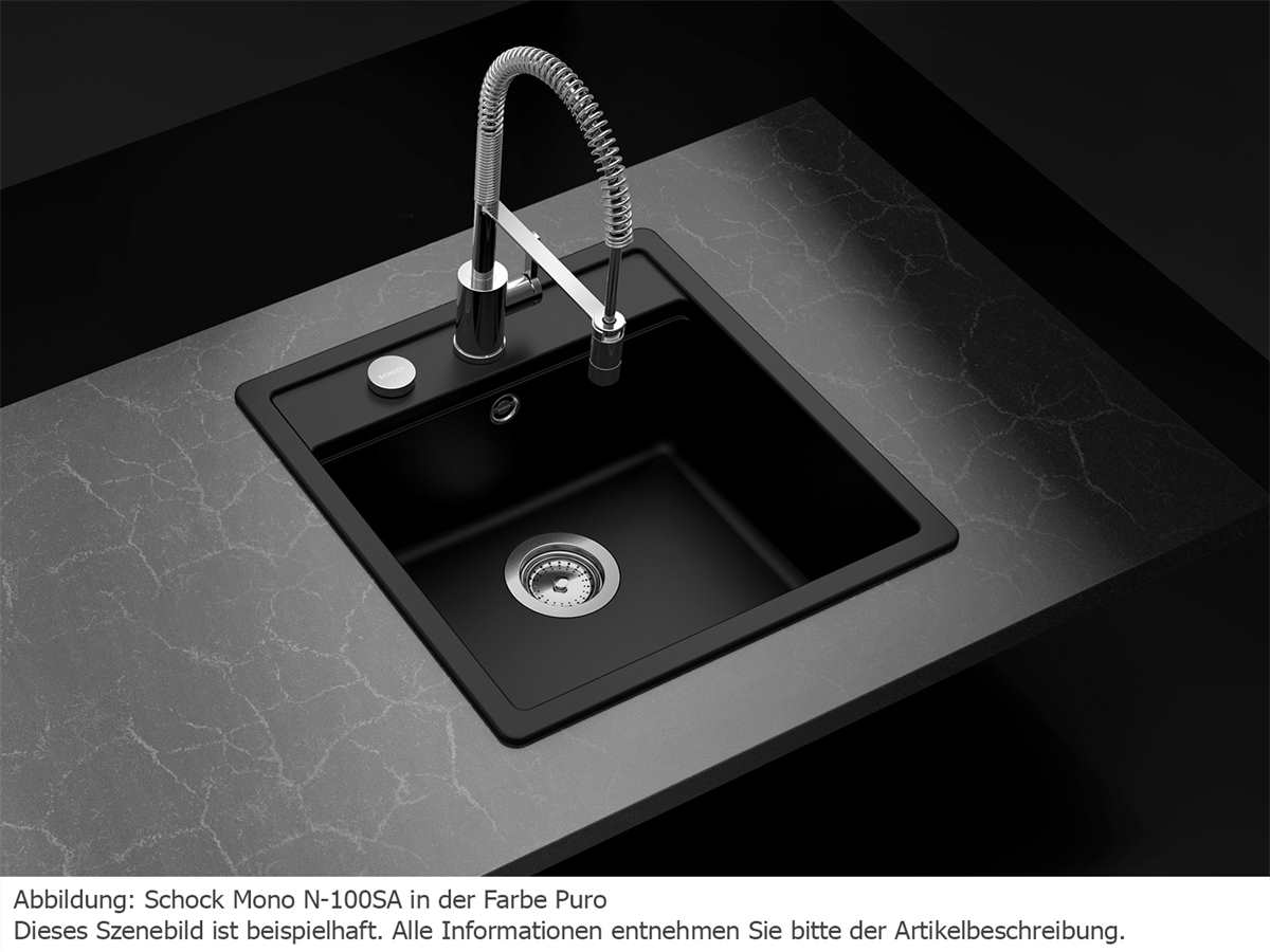 Schock Mono N-100S A Carbonium - MONN100SACAR Granitspüle