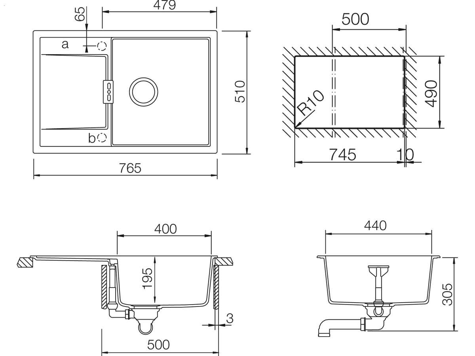 Schock Mono D-100 A Puro - MOND100APUR Granitspüle