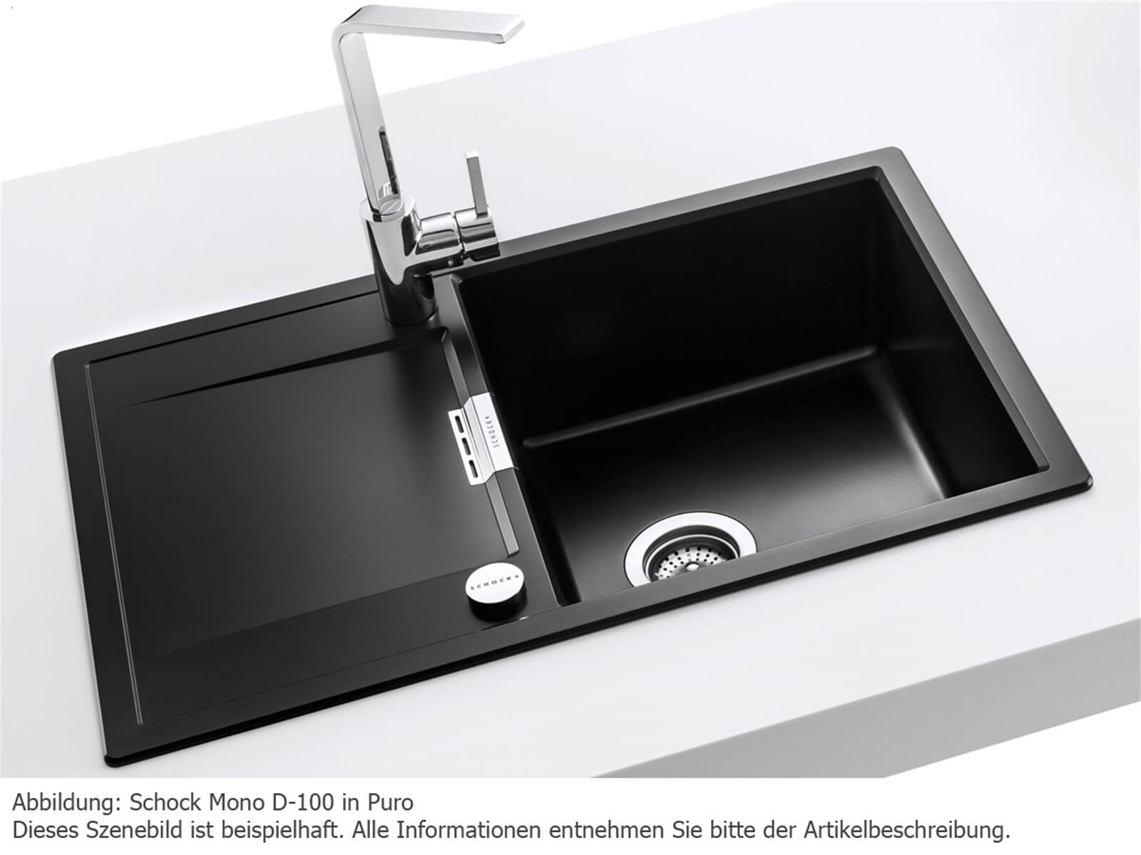 schock mono d 100 a puro granitsp le ebay. Black Bedroom Furniture Sets. Home Design Ideas