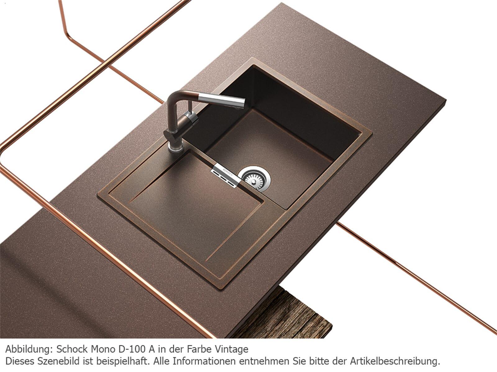 Szenebild Schock Mono D 100 A Granit Spüle ...