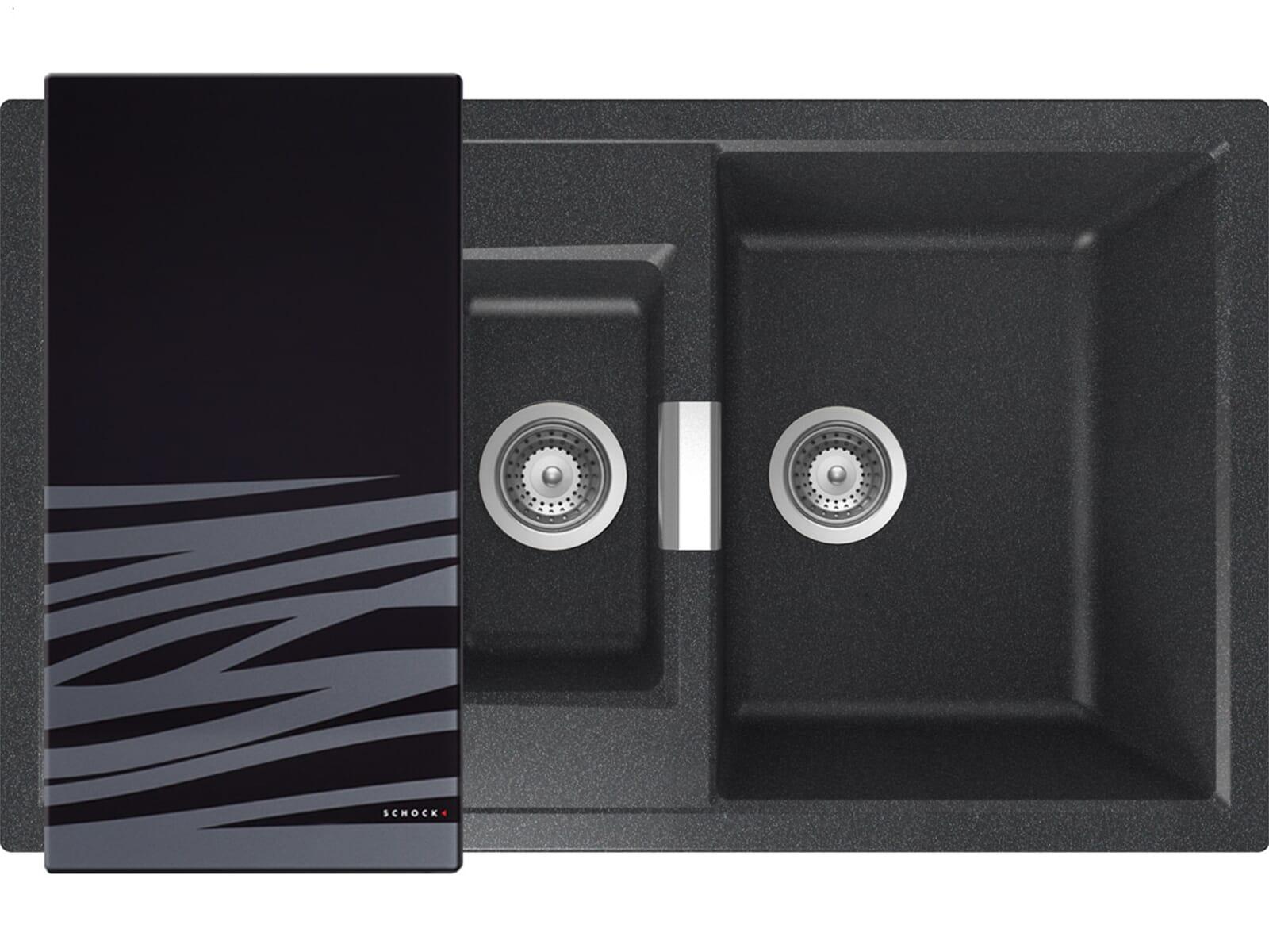 Schock Mono D-150 A Carbonium Granitspüle
