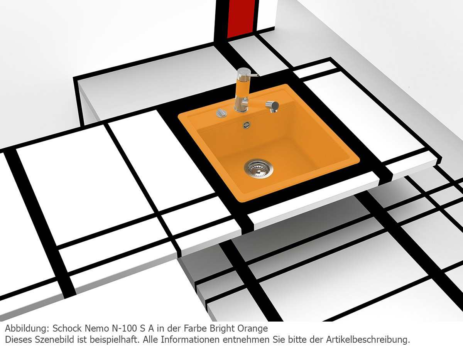 Schock Nemo N-100S A Croma - NEMN100SAGCR Granitspüle