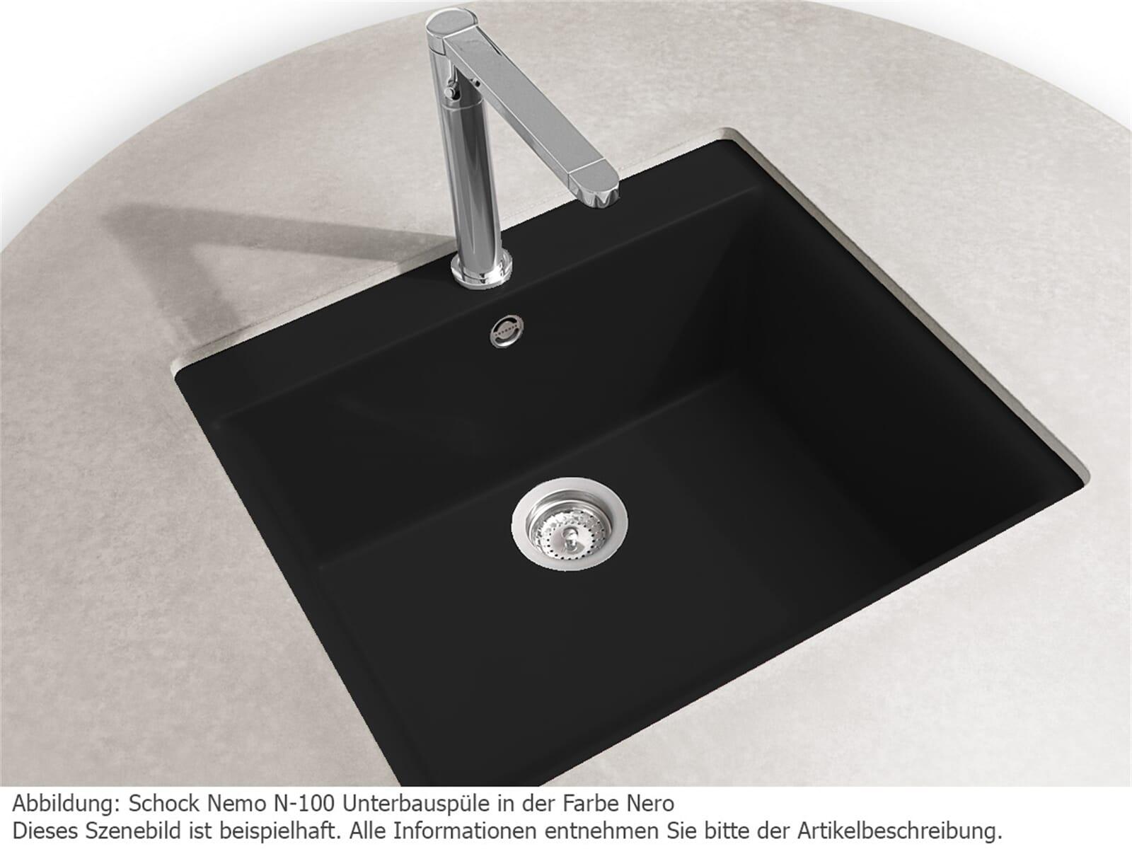 Schock Nemo N-100 U Croma - NEMN100UGCR Granitspüle