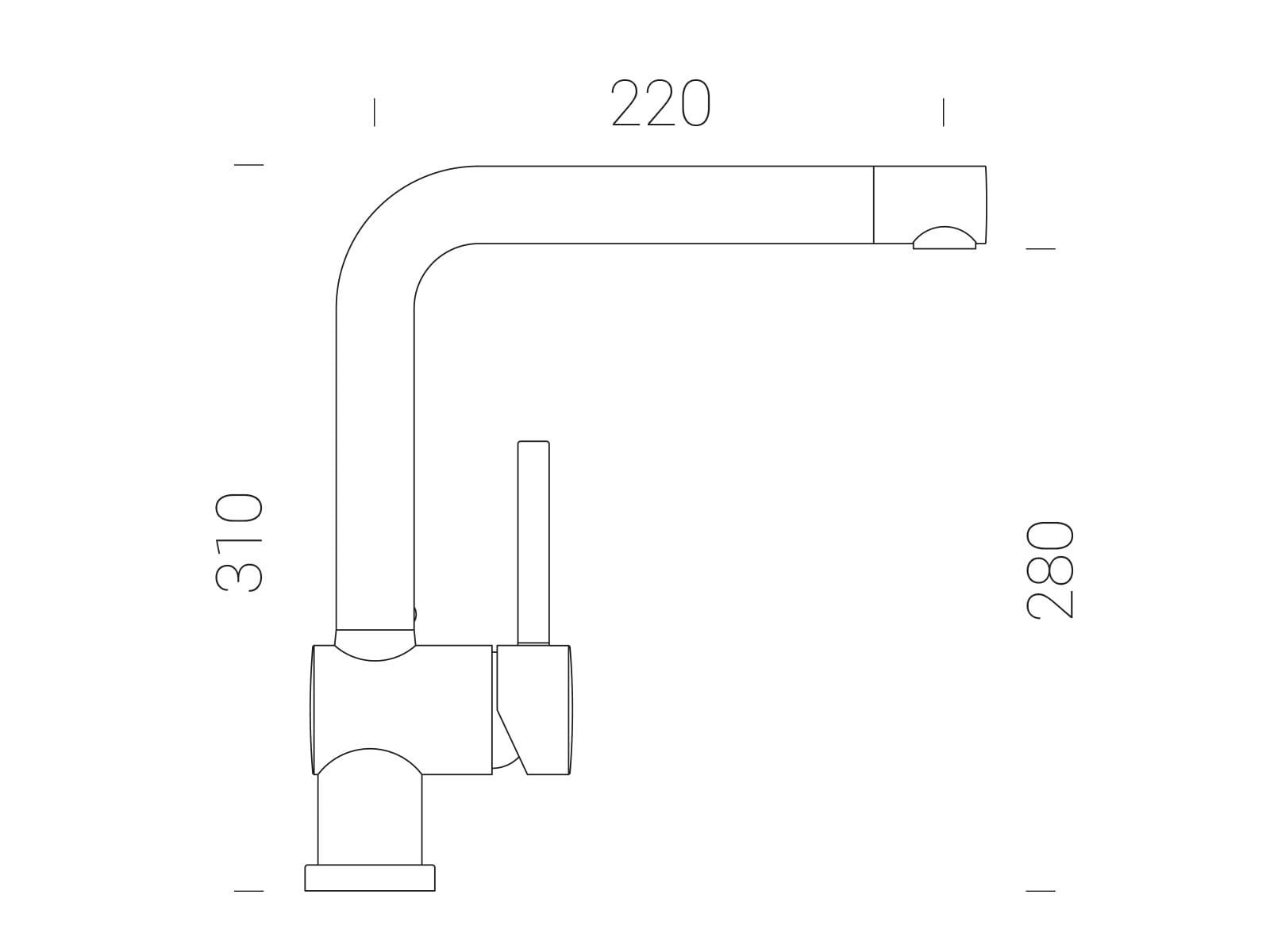 Schock Piega Silverstone - 547001SIL Hochdruckarmatur