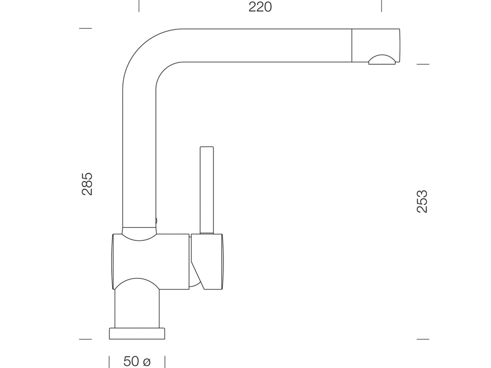 Schock Piega Bronze Hochdruckarmatur