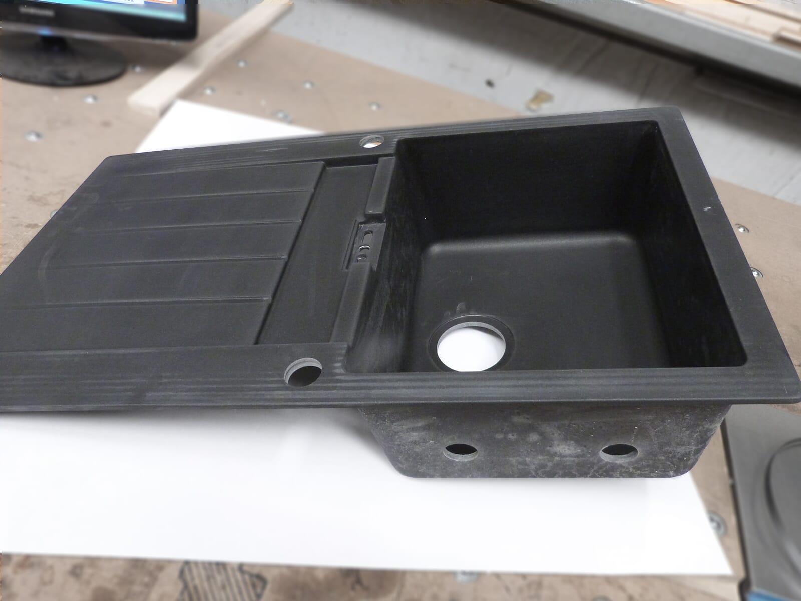 Schock Primus D-100 A Volcan - PRID100AVOL Granitspüle inkl. Hahnlöcher und Löcher für LED-Licht