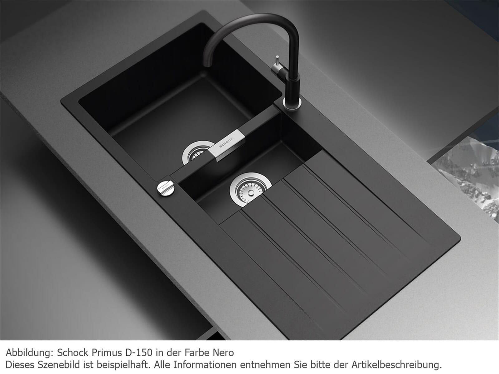 schock primus d 150 a onyx granitsp le. Black Bedroom Furniture Sets. Home Design Ideas