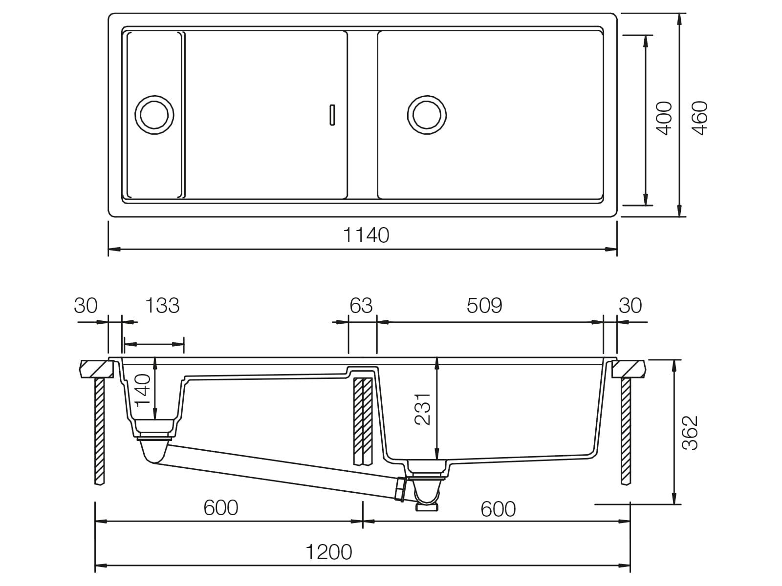 Schock Prepstation D-150 A Puro - PRPD150APUR Granitspüle