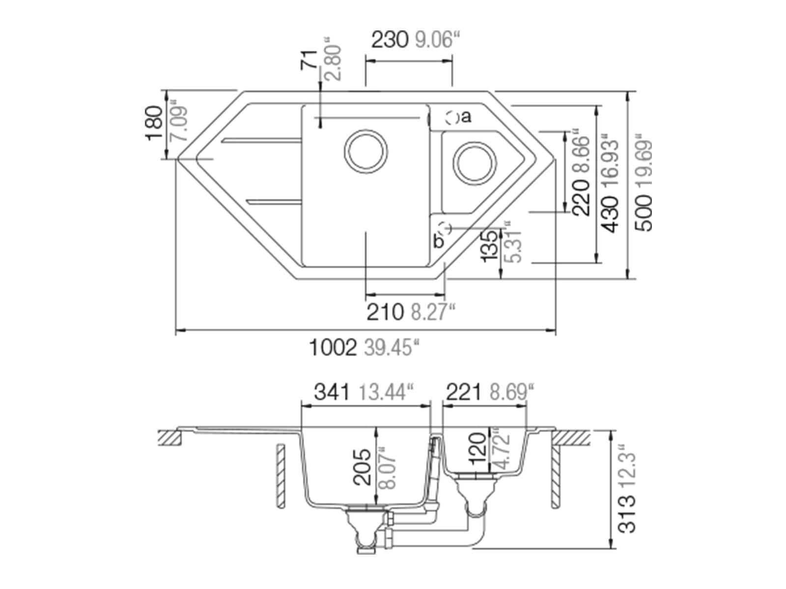 Schock Signus C-150 A Silverstone - SIGC150ASIL Granitspüle