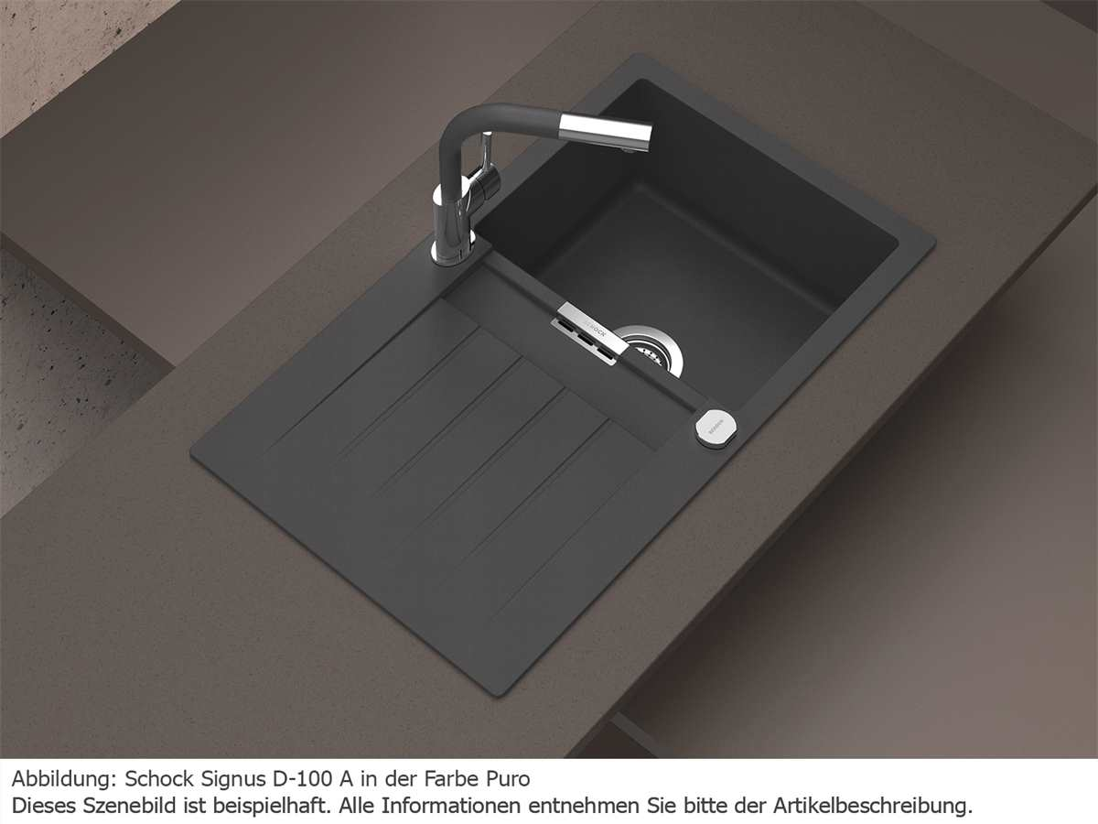 Schock Signus D-100 A Stone - SIGD100ASTO Granitspüle