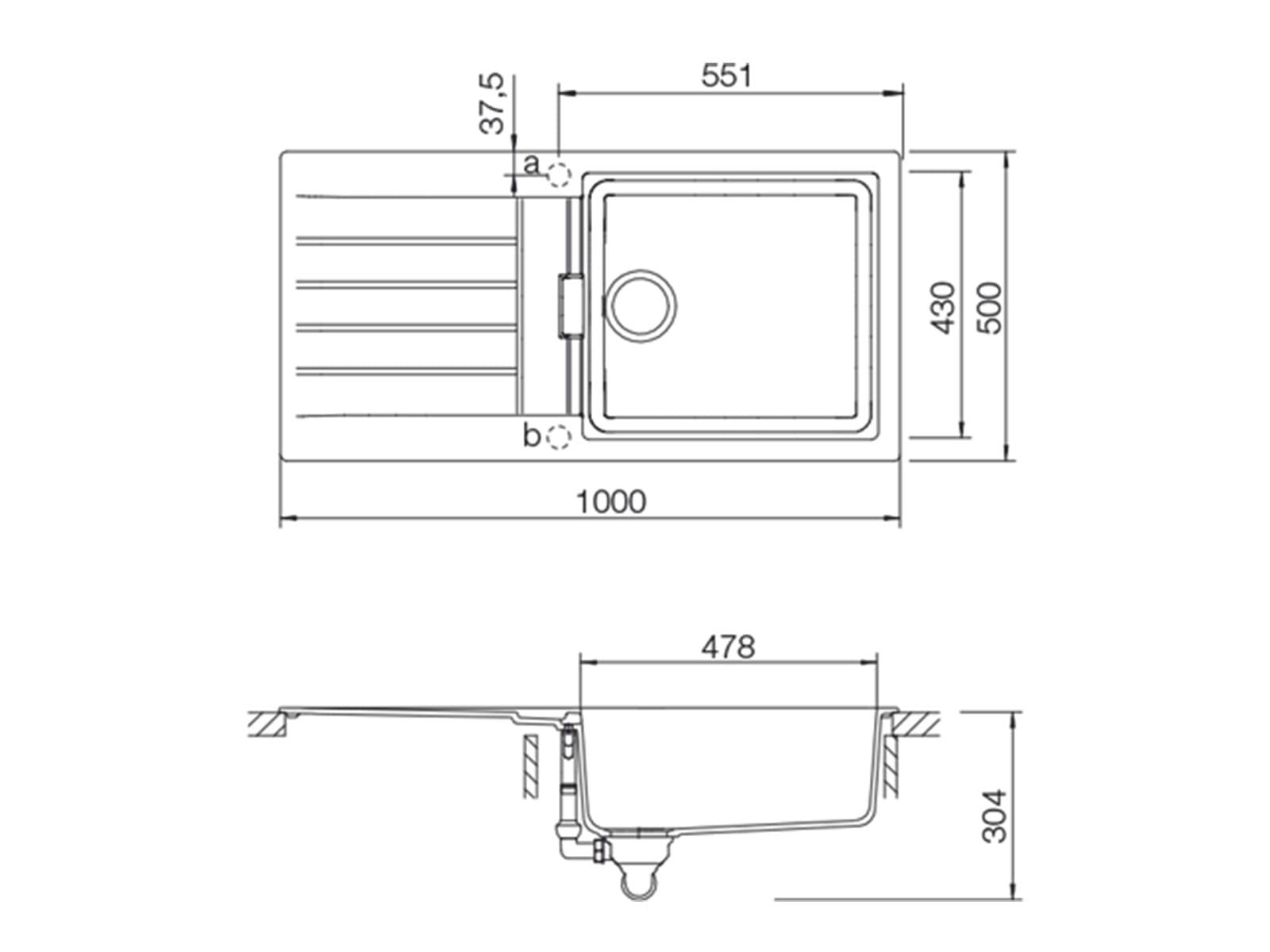 Schock Signus D-100L A Silverstone - SIGD100LASIL Granitspüle