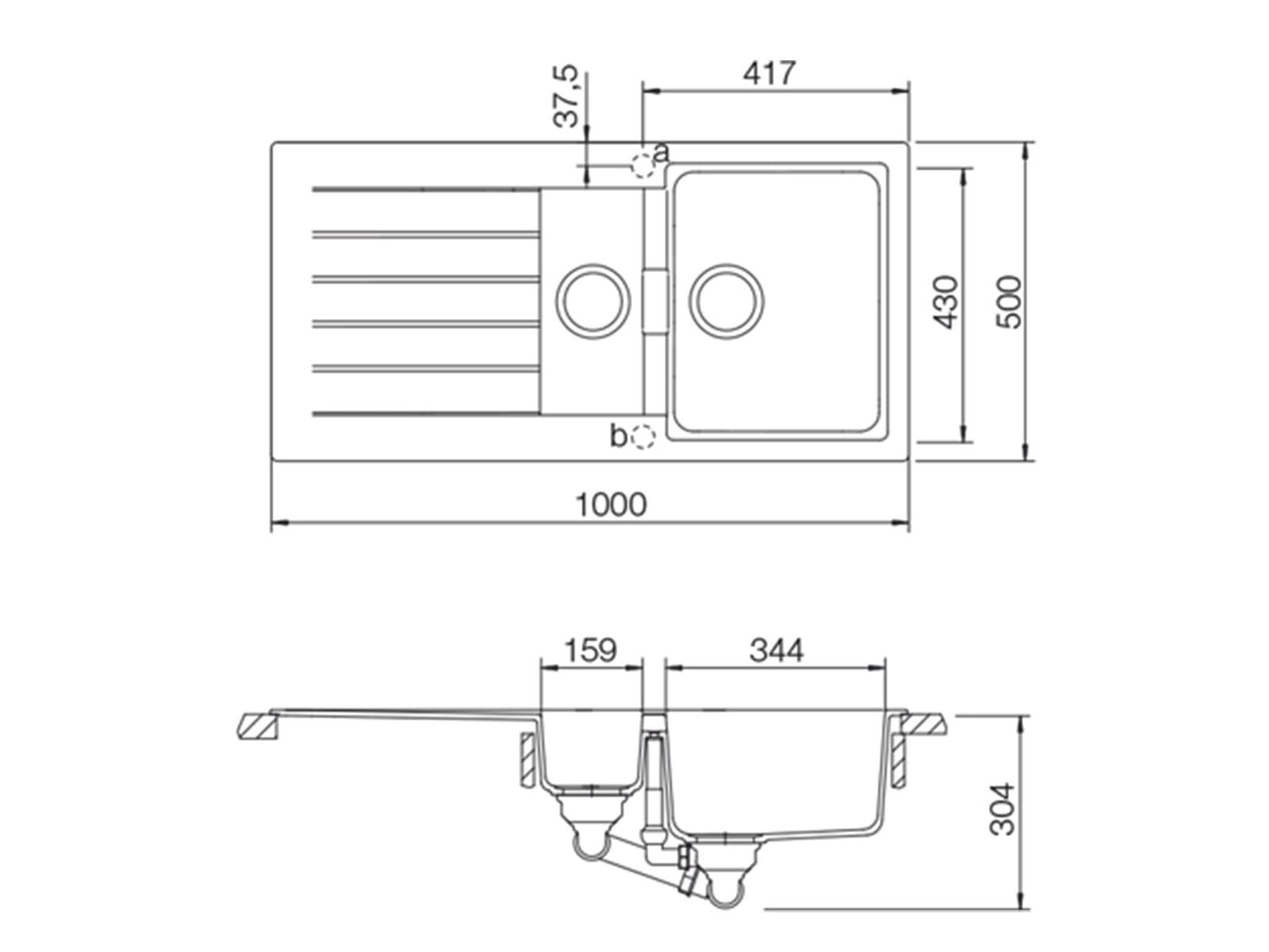 Schock Signus D-150 A Silverstone - SIGD150ASIL Granitspüle