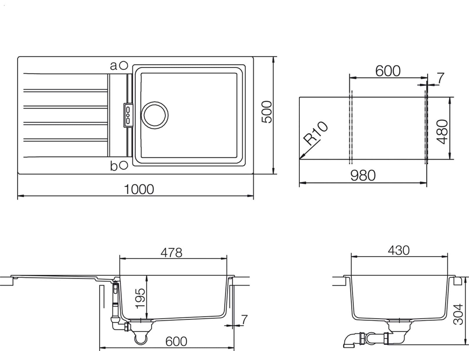 Schock Signus D-100 L A Puro Granitspüle