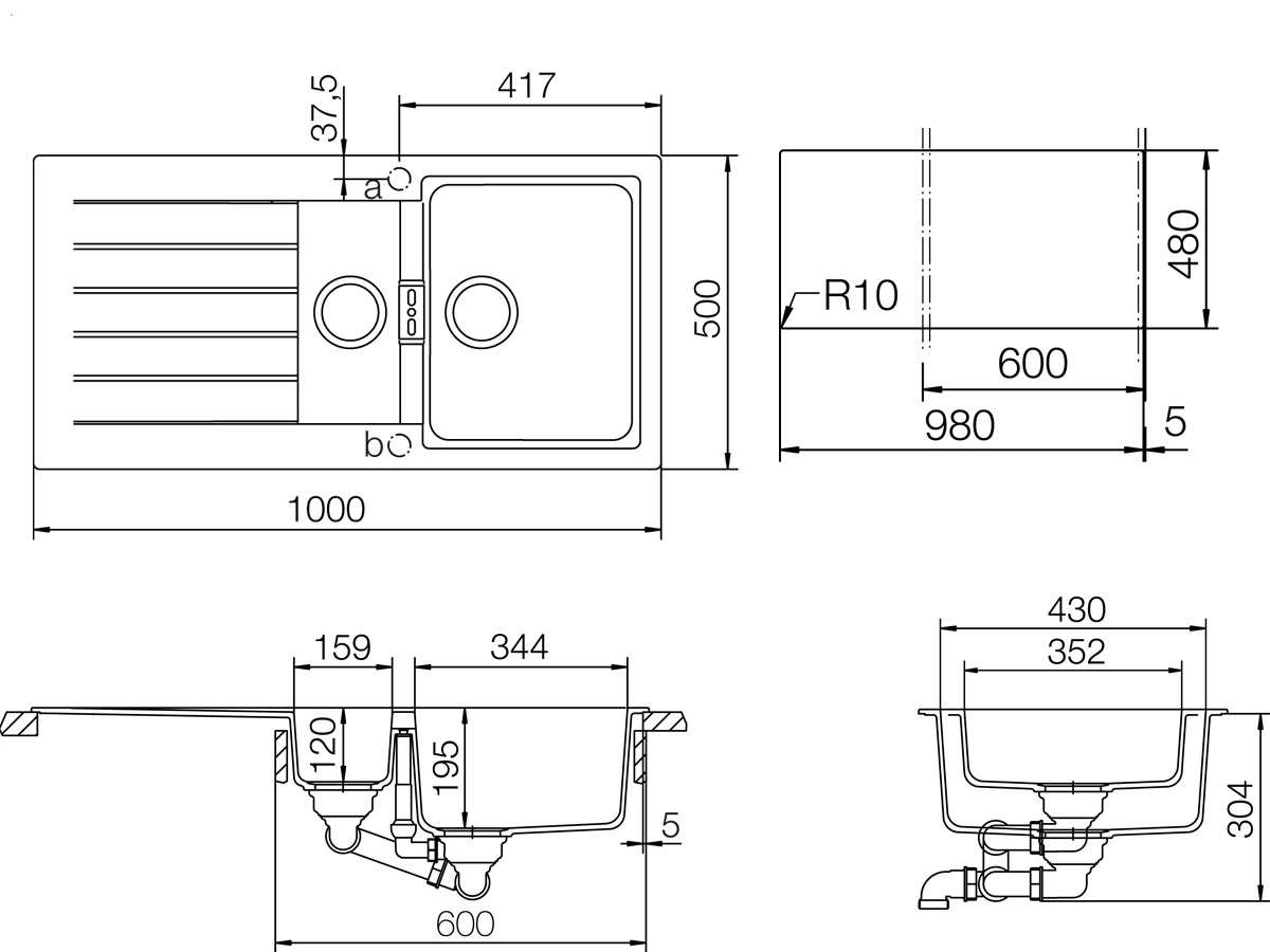 Schock Signus D-150 A Puro Granitspüle
