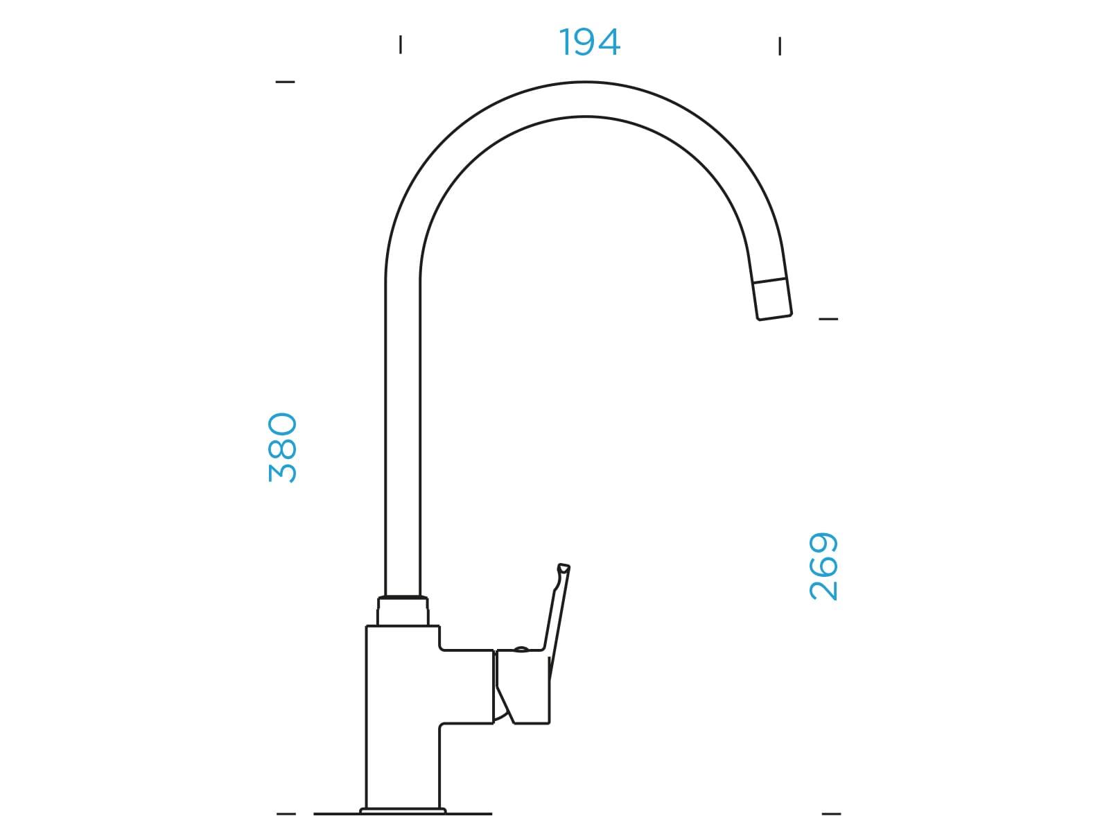 Schock Simi Nero - 505000GNE Hochdruckarmatur