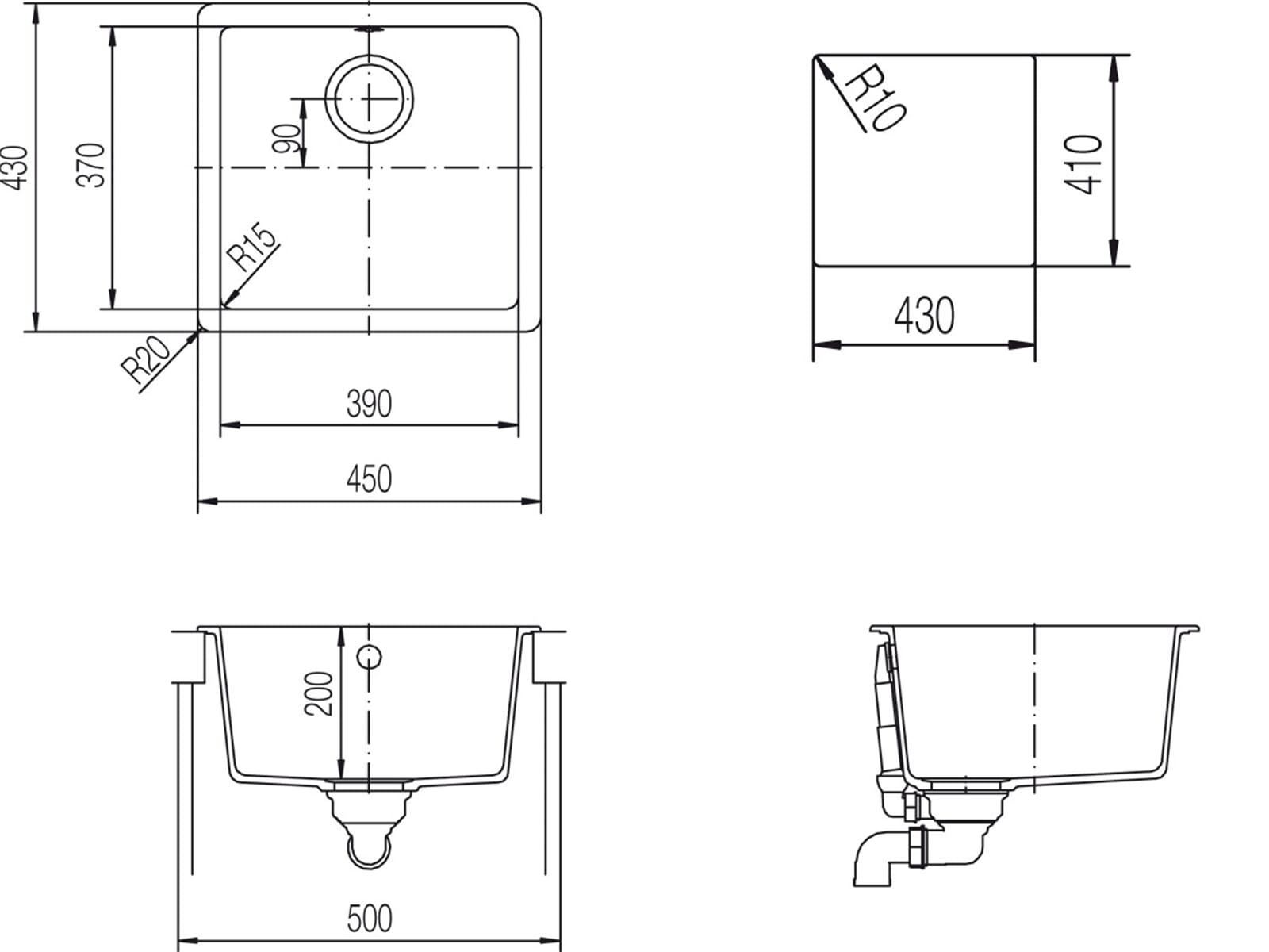 schock soho n 100 s a magnolia granitsp le ebay. Black Bedroom Furniture Sets. Home Design Ideas