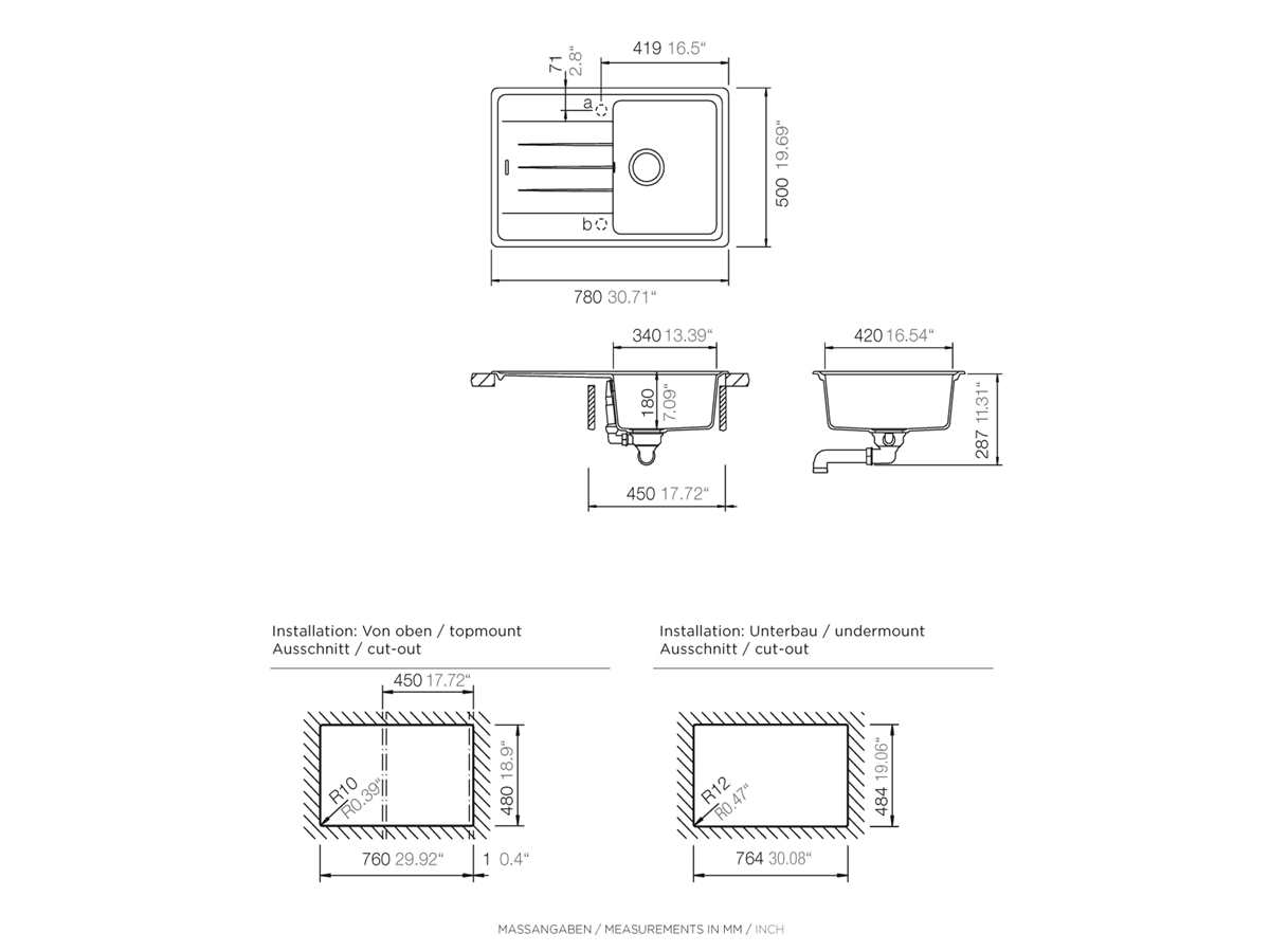 Schock Superb D-100 S A - SUPD100SAGCR Croma Granitspüle