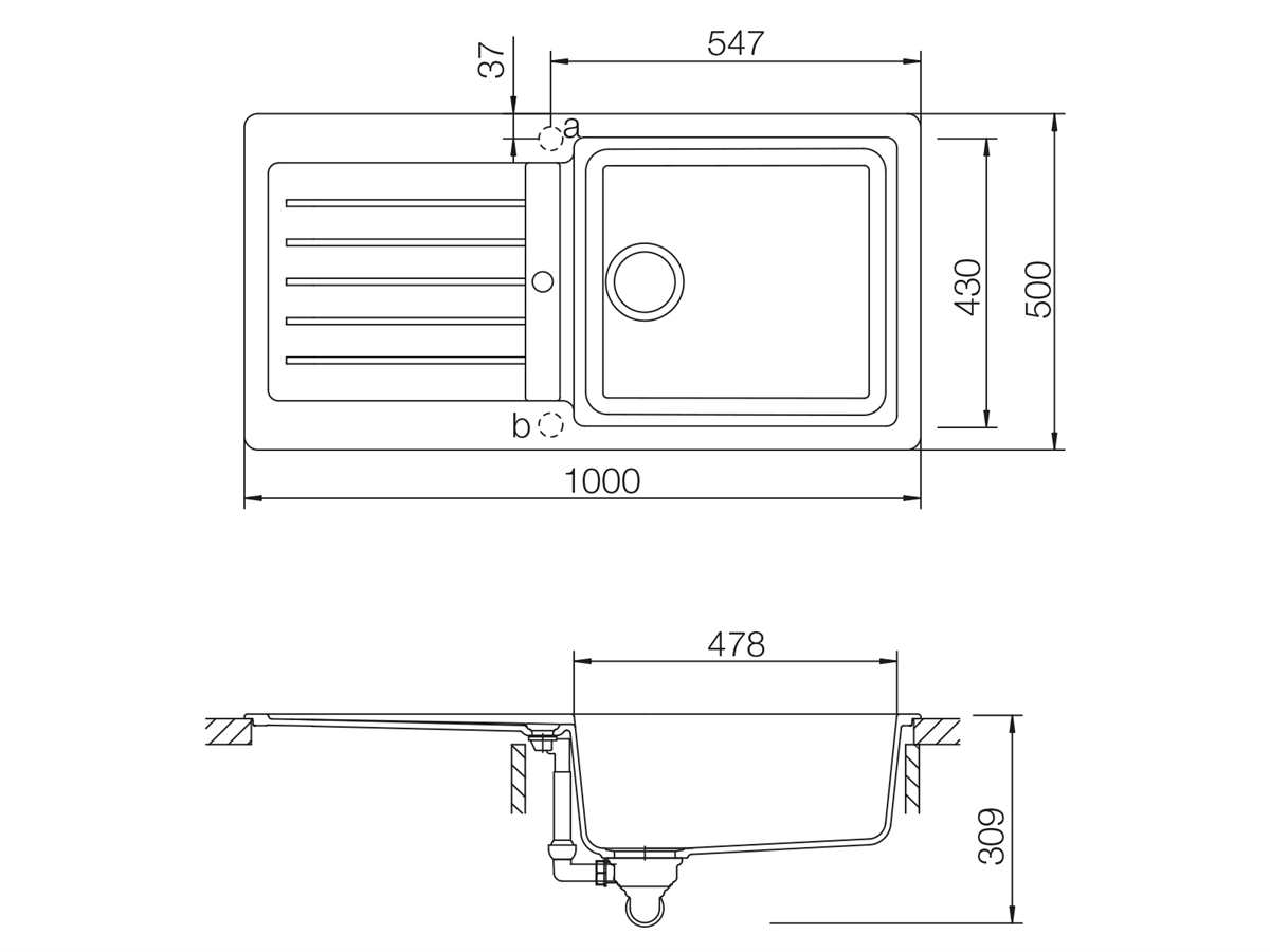 Schock Typos D-100L A Croma - TYPD100LAGCR Granitspüle