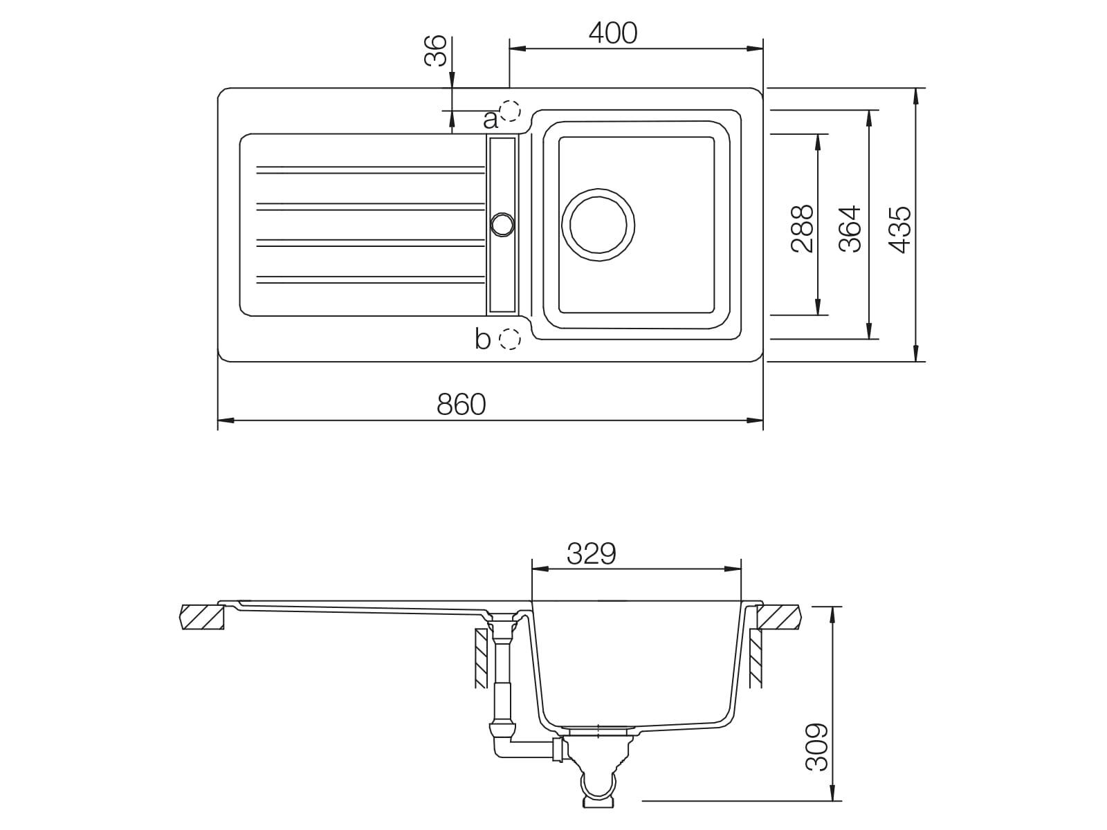 Schock Typos D-100S A Roca - TYPD100SARCA Granitspüle
