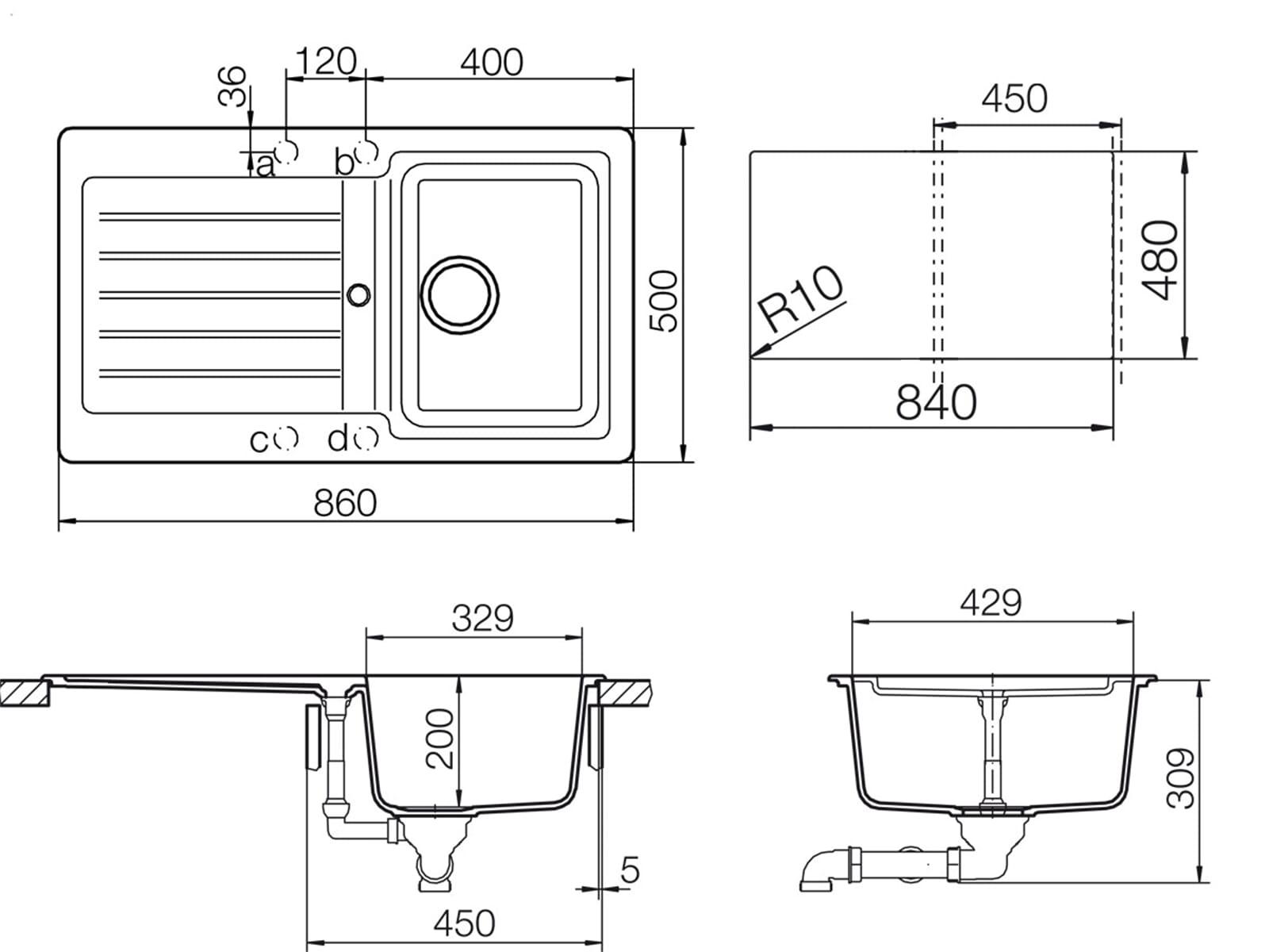 Schock Typos D-100 A Croma Granitspüle