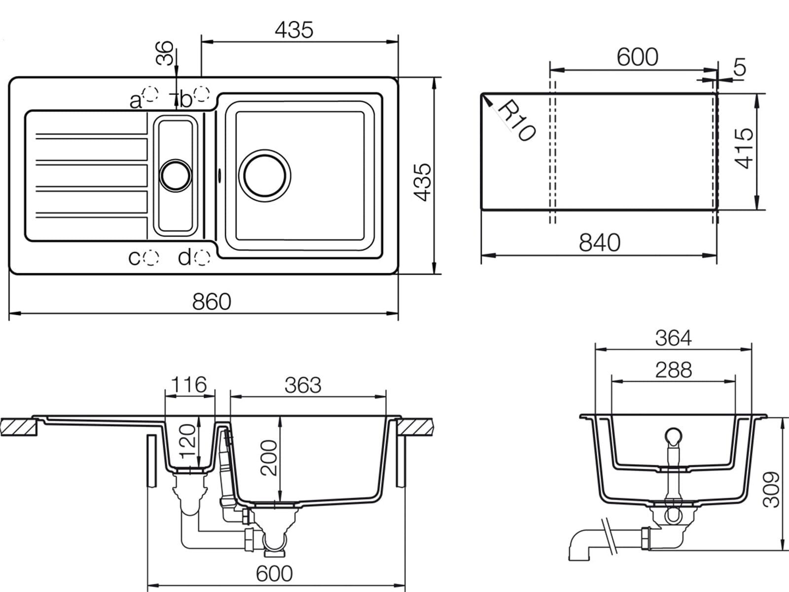 Schock Typos D-150 S A Nero - TYPD150SAGNE Granitspüle
