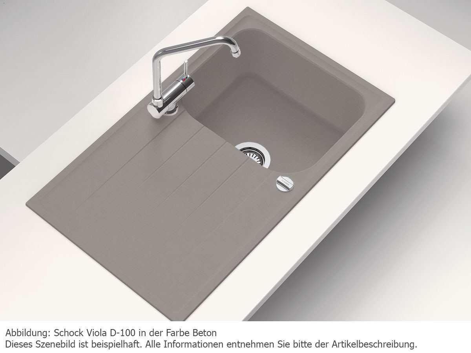 schock viola d 100 a onyx granitsp le ebay. Black Bedroom Furniture Sets. Home Design Ideas