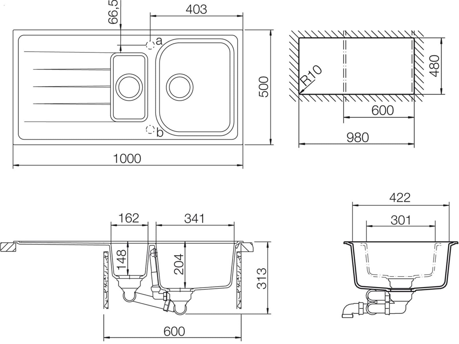 schock viola d 150 a mocha granitsp le ebay. Black Bedroom Furniture Sets. Home Design Ideas
