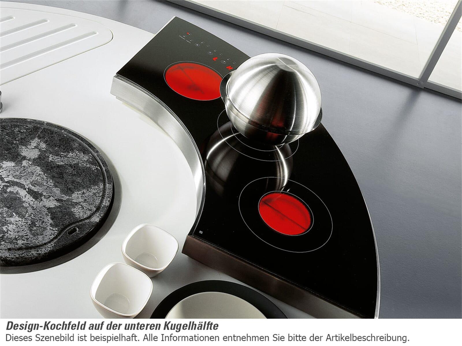 Gatto Sheer Kugelküche inklusive Edelstahlwand - Ausstellungsküche