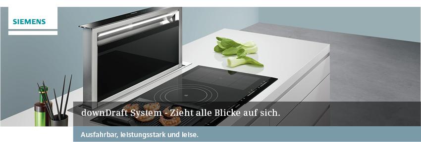 Siemens Tischlüfter – downDraft System