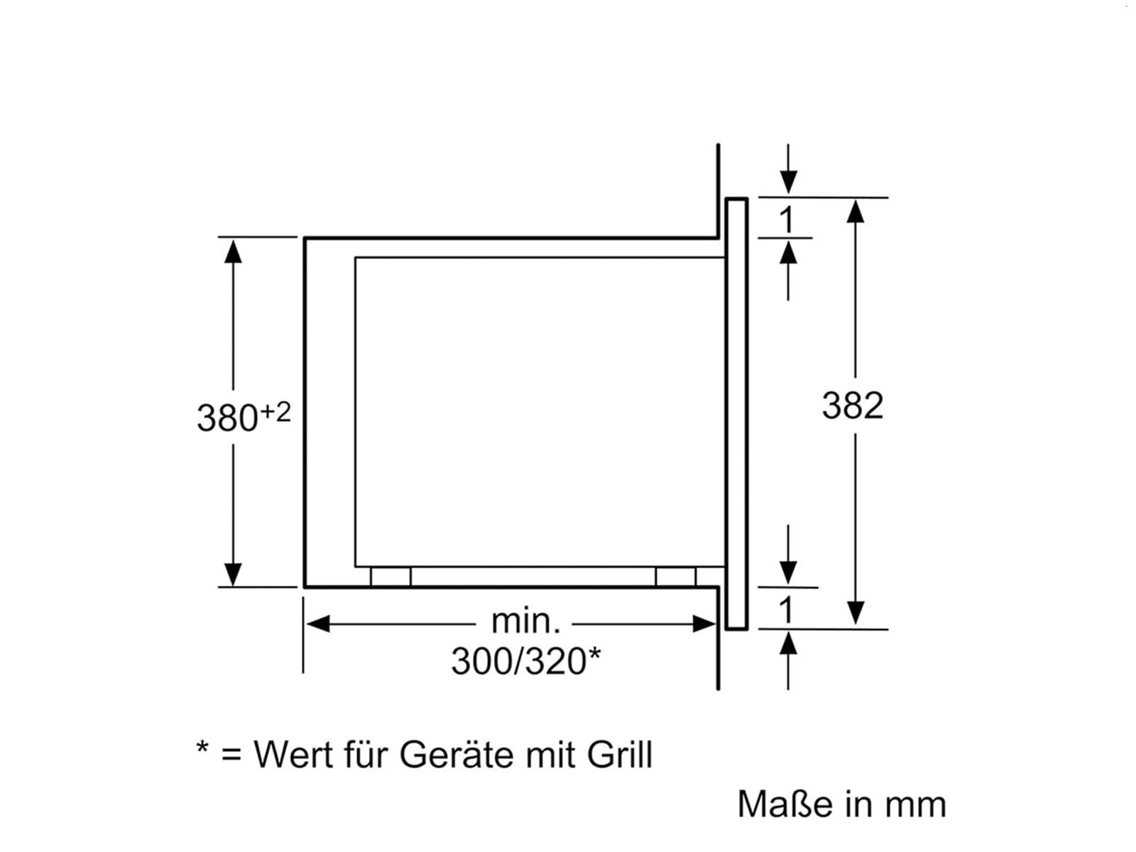 Siemens BF525LMW0 Einbau-Mikrowelle Weiß