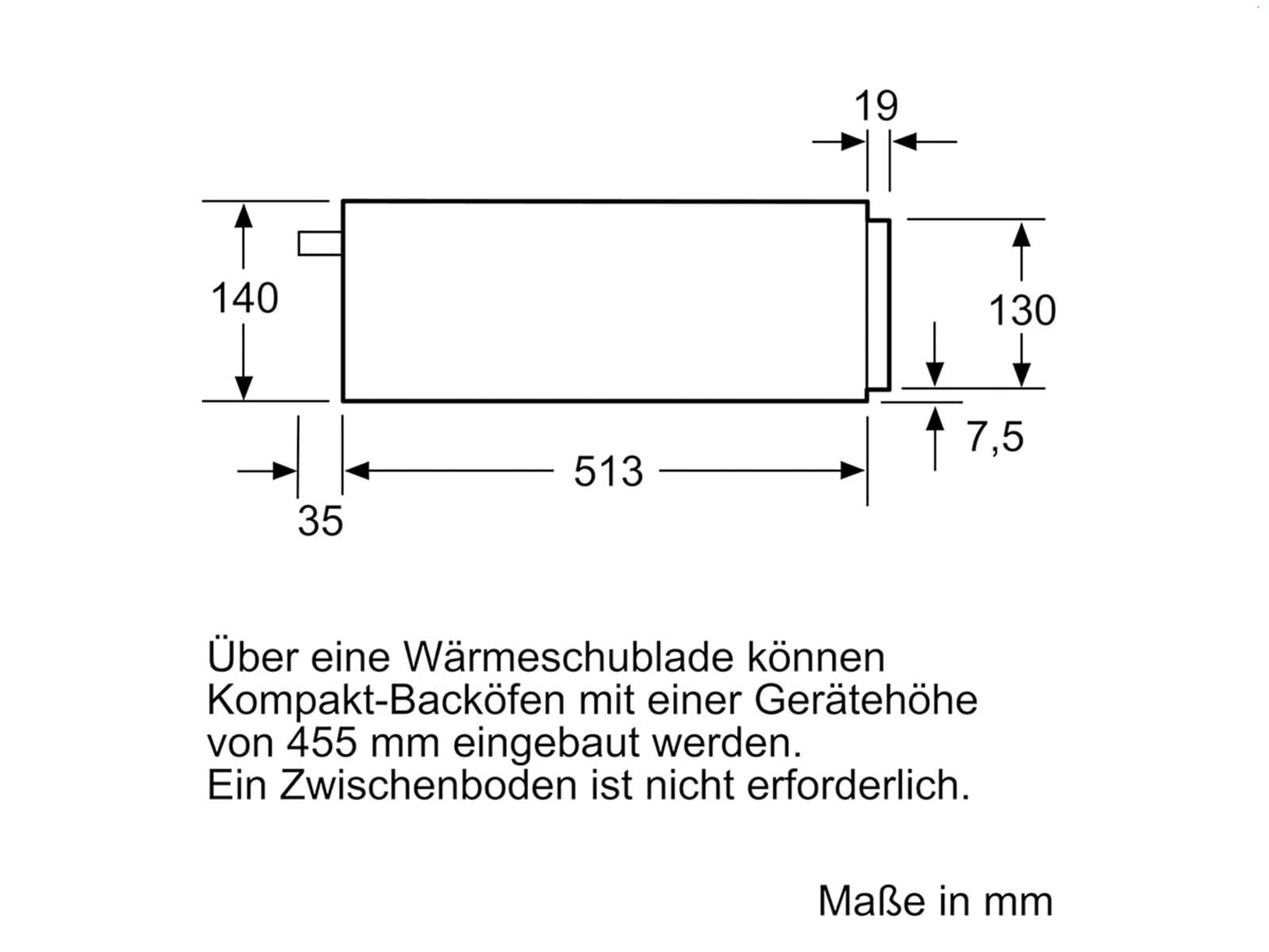 Siemens studioLine BI830CNB1 Wärmeschublade blackSteel