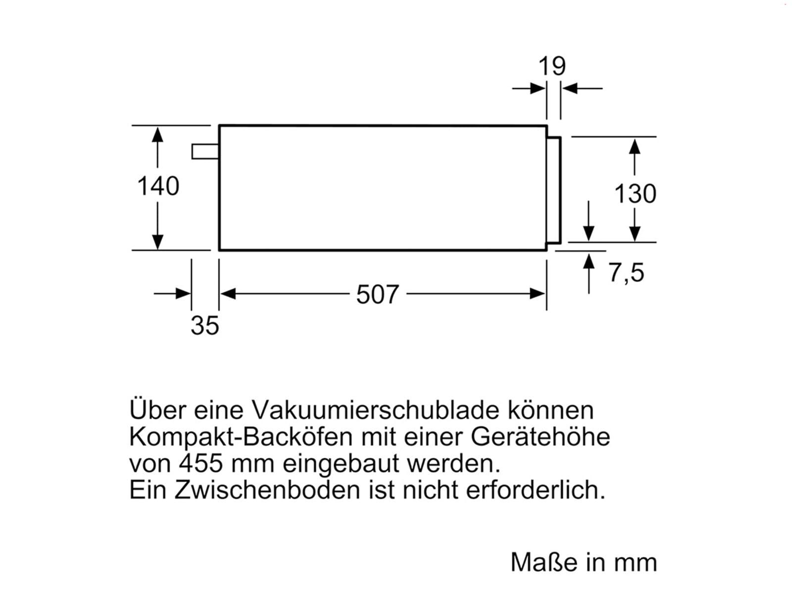 Siemens studioLine BV830ENB1 Vakuumierschublade blackSteel