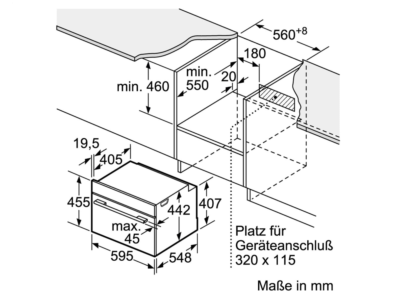 Siemens CD634GBW1 Kompakt Dampfgarer Weiß