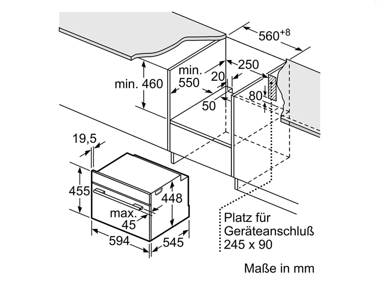 Siemens studioLine CF834AGB1 Einbau-Mikrowelle blackSteel