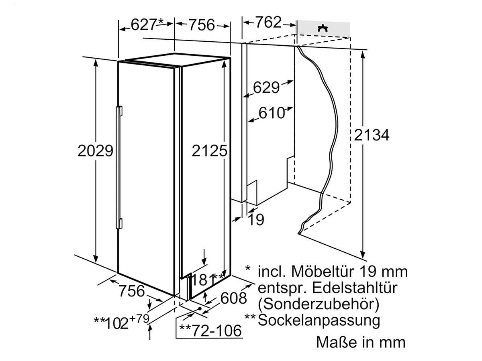 Siemens studioLine CI30RP01 Einbaukühlschrank