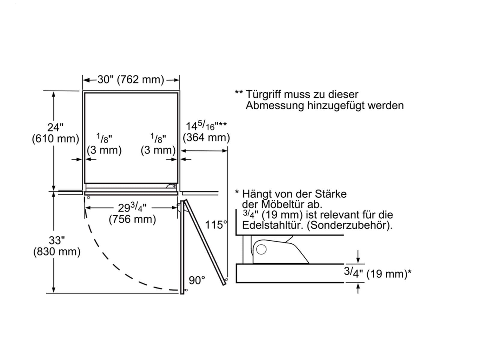 Siemens studioLine CI30RP02 Einbau-Kühlschrank
