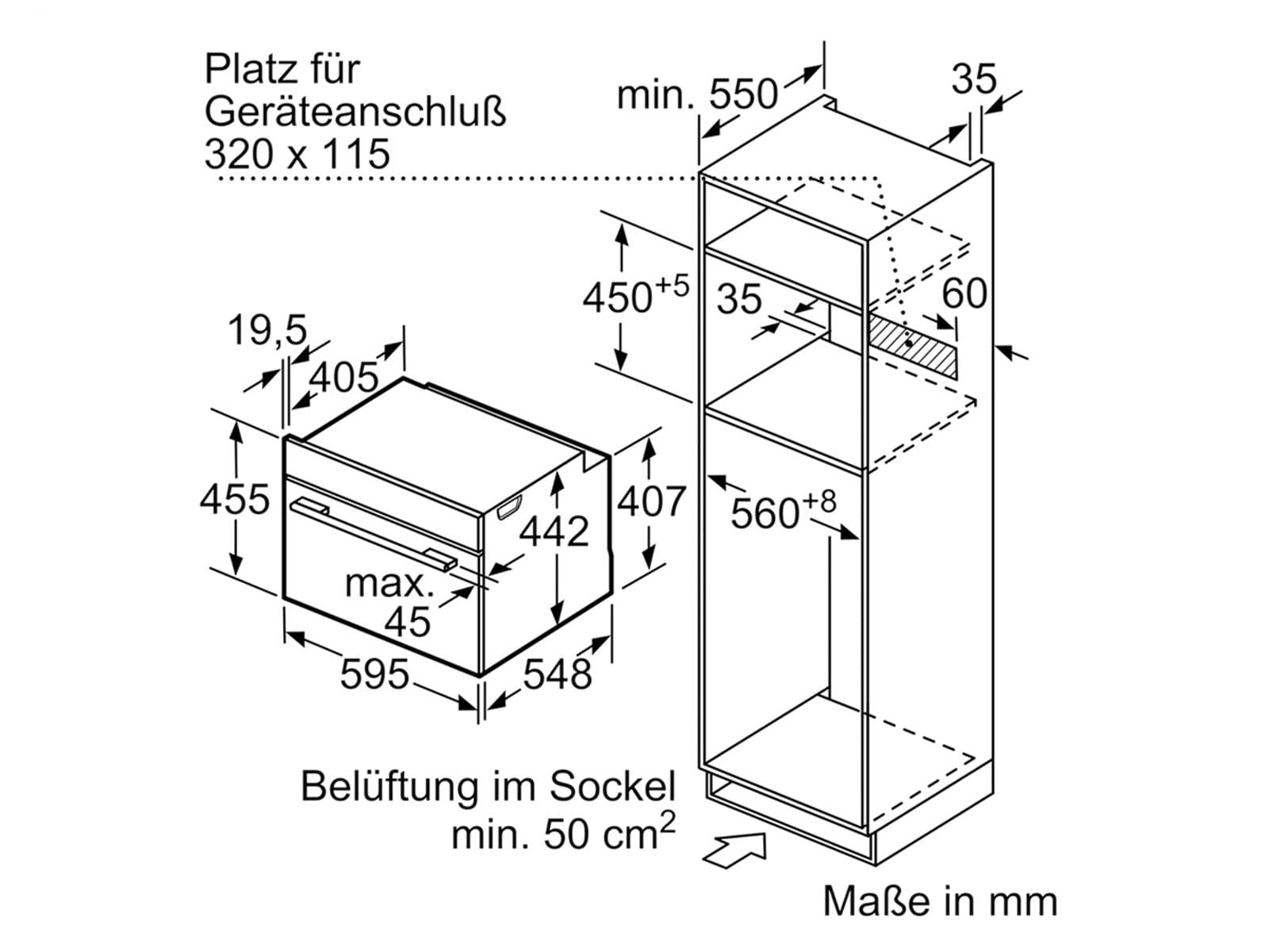 Siemens studioLine CM836GPB6 Kompaktbackofen mit Mikrowelle blackSteel