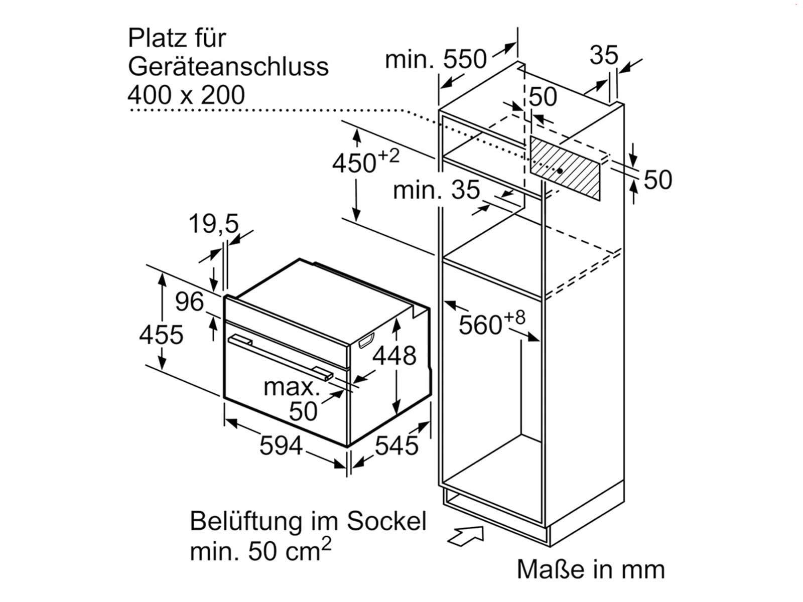 Siemens CO565AGS0 Einbau-Mikrowelle mit Dampfgarfunktion Edelstahl
