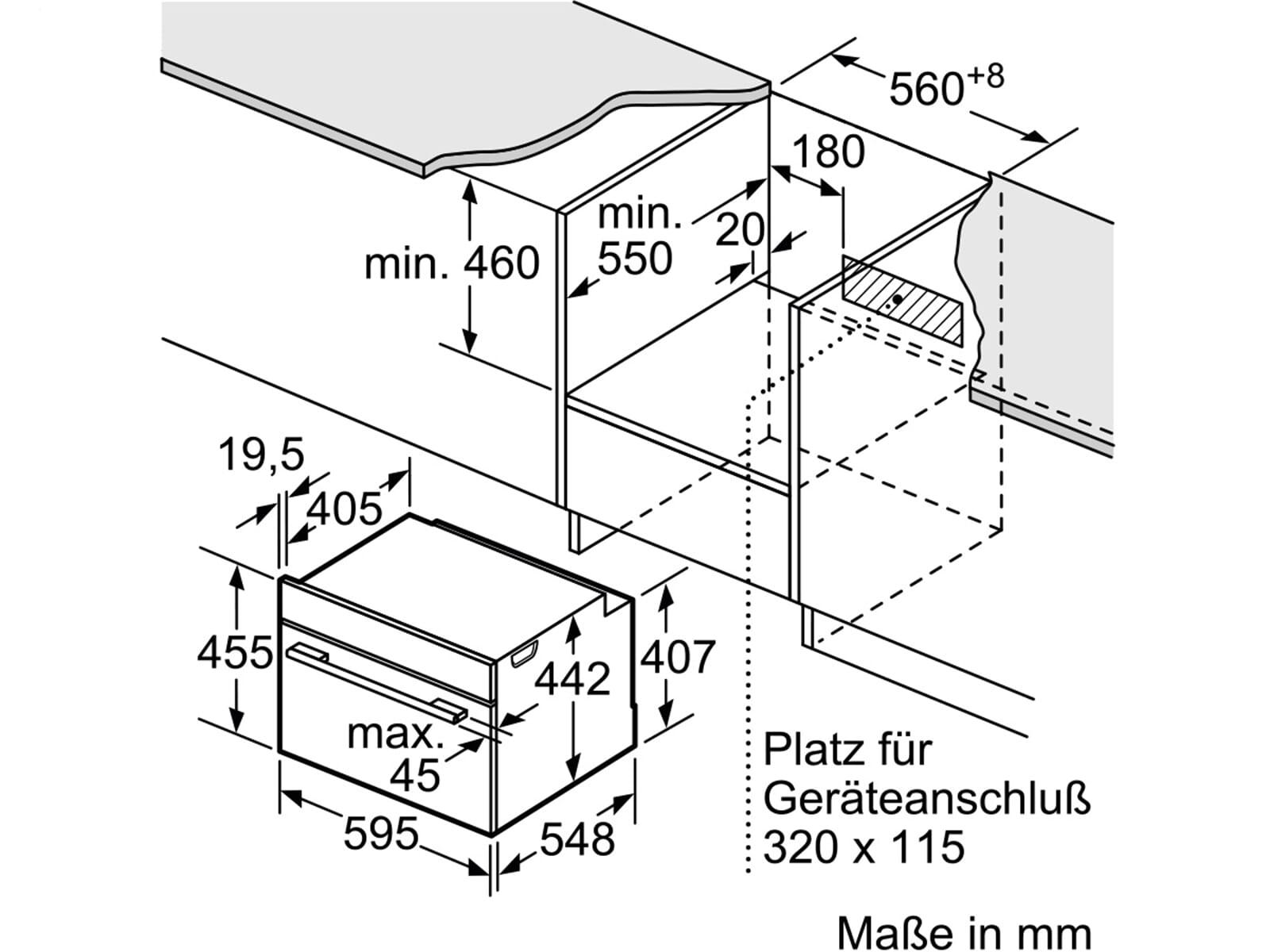 Siemens CS658GRW1 Kompakt Dampfgar-Backofen Weiß