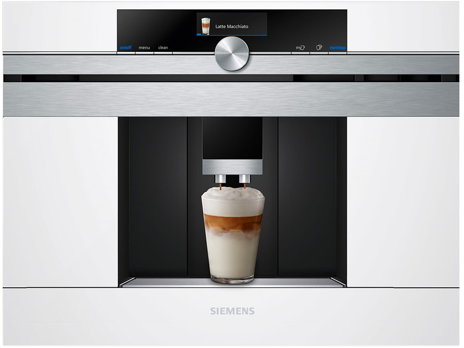 siemens ct636lew1 einbau espresso kaffeevollautomat wei. Black Bedroom Furniture Sets. Home Design Ideas