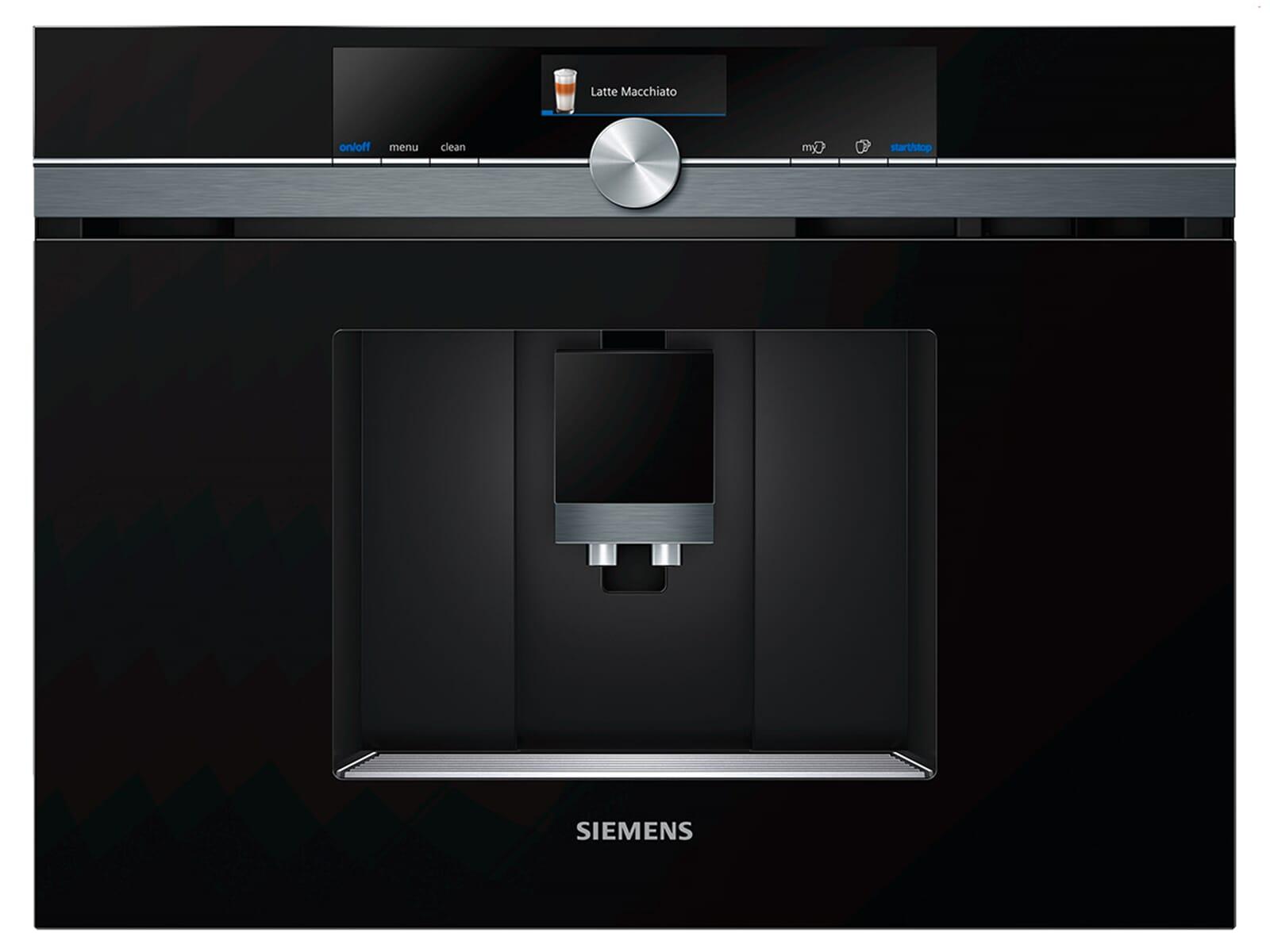 siemens studioline ct836leb6 einbau kaffeevollautomat blacksteel. Black Bedroom Furniture Sets. Home Design Ideas