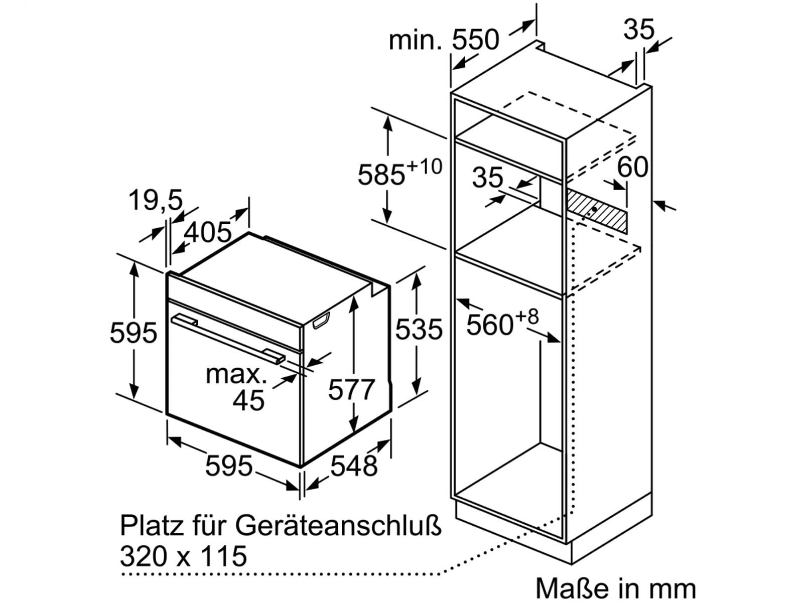 siemens hs636gds1 dampfgar backofen edelstahl schwarz. Black Bedroom Furniture Sets. Home Design Ideas