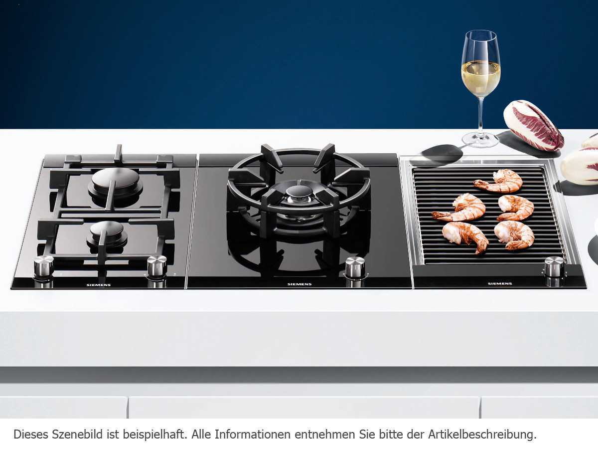 siemens et375fub1e domino kochfeld lava grill edelstahl autark ebay. Black Bedroom Furniture Sets. Home Design Ideas