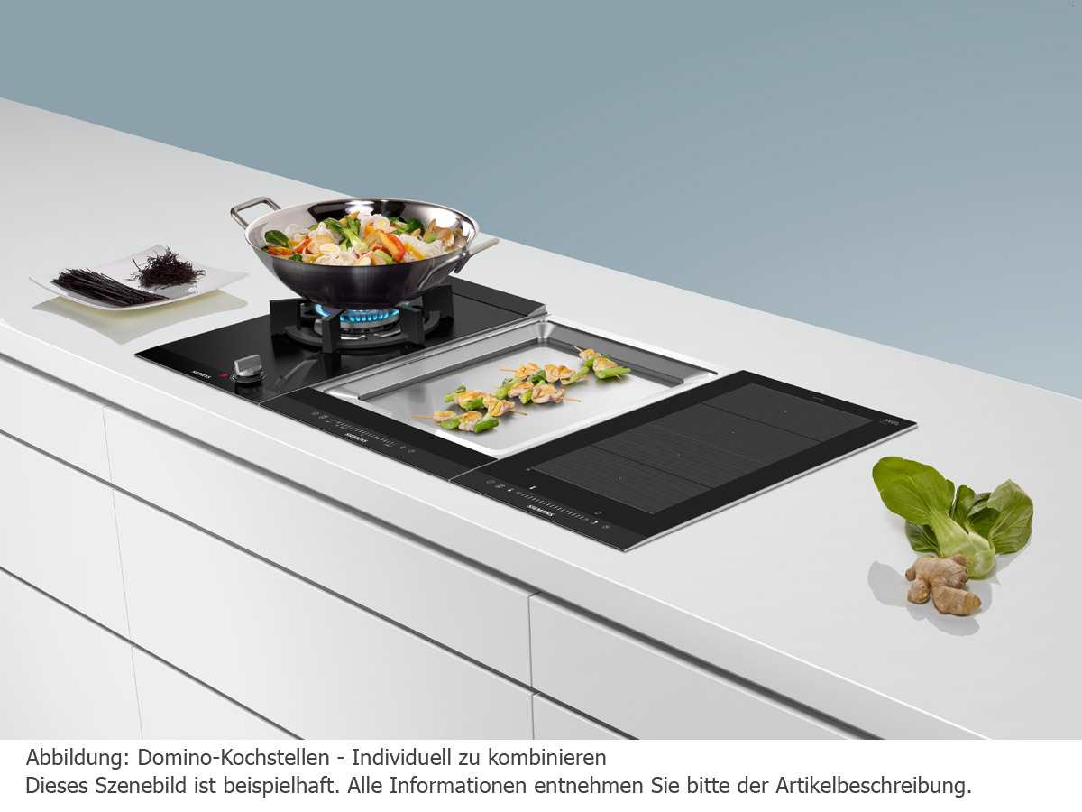 siemens et475fyb1e domino kochfeld teppan yaki edelstahl autark. Black Bedroom Furniture Sets. Home Design Ideas